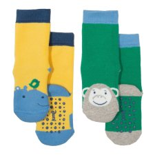 2 pack Hippo grippy in organic cotton for children