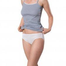Slip donna bianchi in cotone biologico - 2 pz
