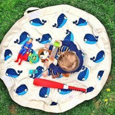 Play mat + Toy storage bag Whale