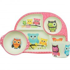 3 piece kids dining set Owl