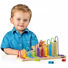 Abacus with math problems