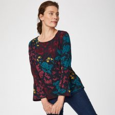 Agnetha Floral Print Bamboo Top