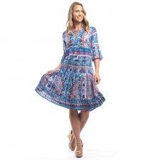 IBIZA Boho style dress in Organic Cotton voile