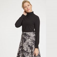 Alvilda Roll Neck Bamboo Top
