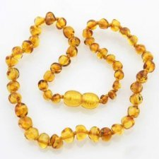 Amber necklace beads Honey
