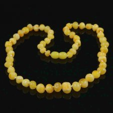 Amber necklace beads Butter