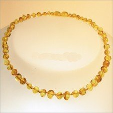 Amber necklace beads
