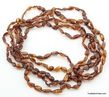 Amber necklace for adult oval shape beads