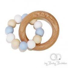 Anello massaggiagengive in silicone e legno Bubble Bath