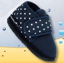 Ankle high unisex velcro slippers in organic cotton