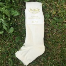 Ankle socks in natural organic cotton