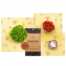 Apepack Trio 3 pcs M L XL - organic cotton  and beeswax food film