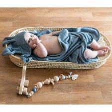 Asciugamano Baby con cappuccio e manopola Coniglietto in Bamboo organico