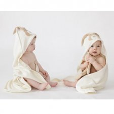 Asciugamano con cappuccio Bunny in Cotone Bio