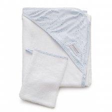 Asciugamano con cappuccio e manopola Mini Dots in Bamboo organico