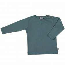 Avio blue organic cotton long sleeve shirt