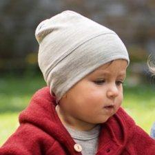 Baby hat in organic virgin wool and silk