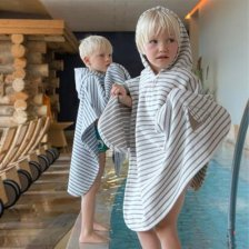 Baby bath poncho in organic cotton