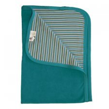 Baby blanket in organic cotton velvet Ocean Blue
