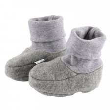 Baby boots in organic cotton fleece Popolini
