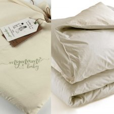 Baby cot duvet cover parure Mymami in Organic Raw Natural cotton