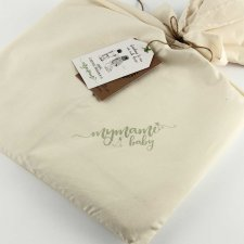 Baby cot parure Mymami in Organic Raw Natural cotton
