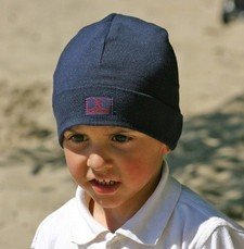 Baby cuffed bonnet Schlupper in organic cotton