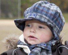Baby flat cap Moritz in organic wool
