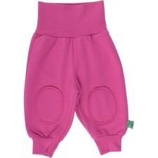 Baby girl coloured pants in organic cotton