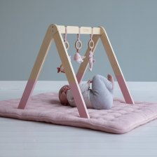 Baby gym Ocean Pink in wood