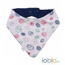 Baby hankie bib polar print in organic cotton