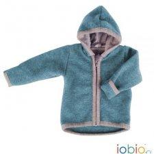 Baby jacket Popolini in organic merinos wool