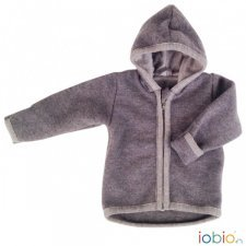 Baby jacket Popolini Grey in organic merinos wool