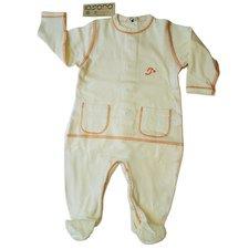 Baby light long sleeve bodysuit in organic cotton