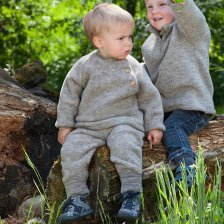 Baby long pants in organic merino wool fleece