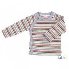 Baby long sleeve kimono shirt in organic cotton terry