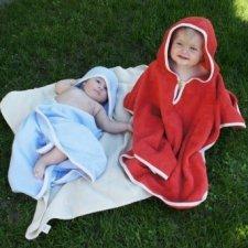 Baby poncho with hood