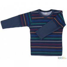 Baby striped shirt Popolini in organic cotton