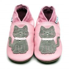 Baby shoe with soft sole in leather Cat Inch Blue