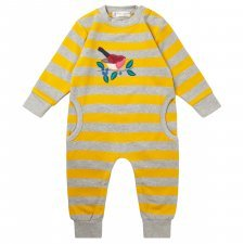 Baby sweat romper Bird in organic cotton