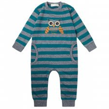 Baby sweat romper Owl in organic cotton