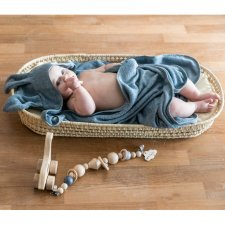 Baby towel with hood and knob Bunny in organic Bamboo