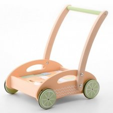 Baby walker with blocks in high quality wood