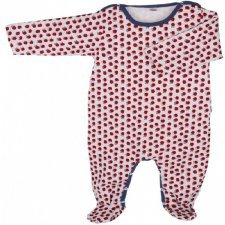 Babysuit cranberry in organic cotton