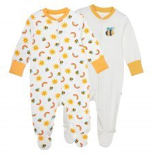 Babysuit Bees Frugi in organic cotton - 2 pieces