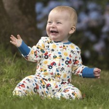 Babysuit Farm Friends Frugi in organic cotton