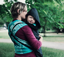 Babywearing Fleece-lined all-weather cover