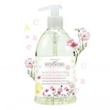 Bagno&shampoo BABY delicato ai Fiori di Lino 500ml