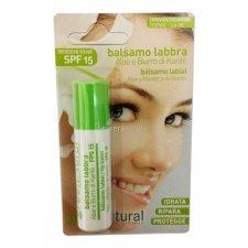 Balsamo labbra aloe e burro karitè - Protezione solare SPF15