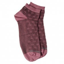 Bamboo ankle socks old rose with flowers